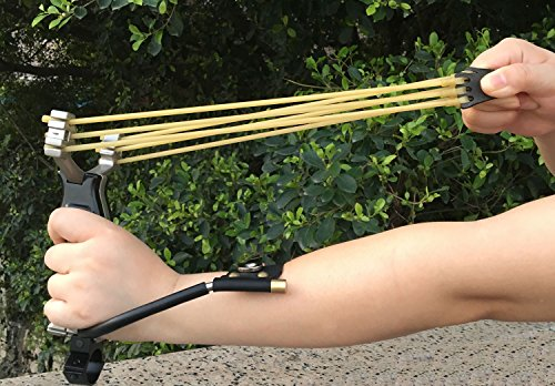 Professional-SlingshotAdjustable-Stainless-Sling-Shot-for-Outdoor-Hunting-Catapult-Game-2-Rubber-Bands-100-Slingshot-Ammo-Include-Slingshot
