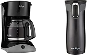 Mr. Coffee 12-Cup SK13 Manual Coffeemaker & Insulated Travel Mug