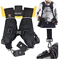 Professional Fashion Quick Rapid Shooting Camera Sling Canon Universal Dual-shoulder Strap Belts For DSLR Digital Canon Nikon SLR Sony Pentax Panasonic Olympus Camera Overview Review Image