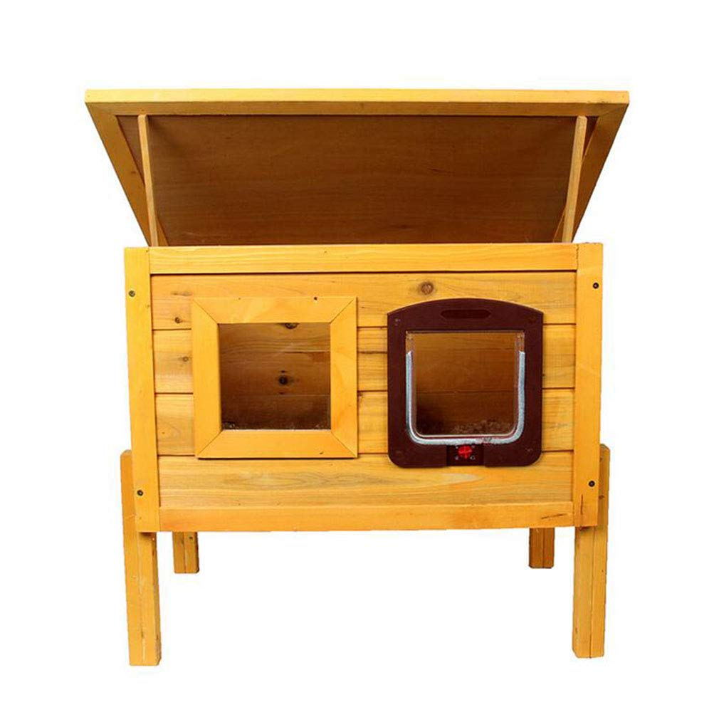 Pet Rabbit Wooden nest cat House Outdoor Breathable Warm Multi-Functional cat Solid Wood House