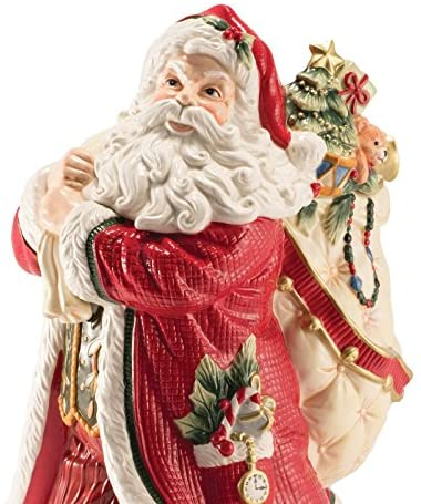 Fitz and Floyd Night Before Christmas Collection Santa Figurine Vase