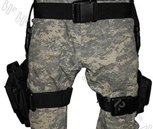 (Vivoi 3 pc Drop Leg Gun Holster W/ 3 Magazine Pouches Pistol Pouch Tactical/Airsoft)