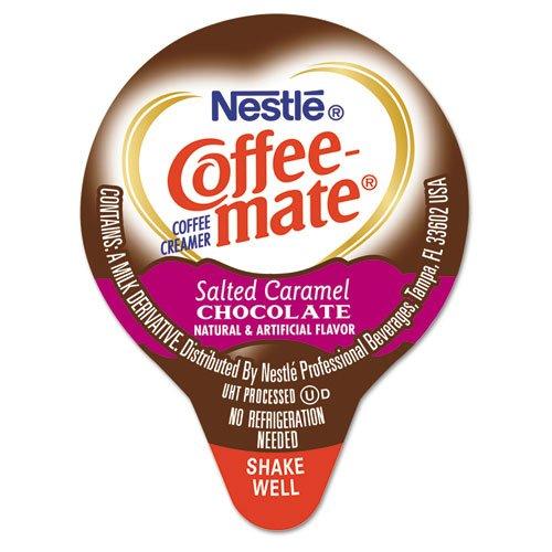 Coffee-mate Liquid Coffee Creamer, Salted Caramel Chocolate, 0.375 oz Mini Cups, 50/Box NES STCRMCRMR by Coffee-mate