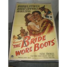 BRIDE WORE BOOTS/ ORIG. U.S. ONE SHEET MOVIE POSTER (BARBARA STANWYCK)