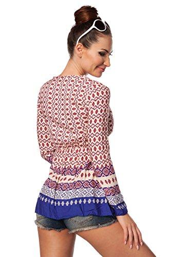 Angies Glamour Fashion - Camisas - para mujer beige/gemustert