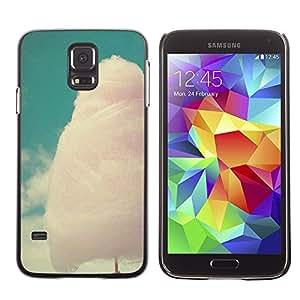 SHIMIN CAO- Dise?o Caso duro de la cubierta Shell protector FOR Samsung Galaxy S5 I9600 G9009 G9008V- cotton candy