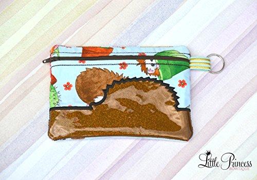 Cosmetic Bag, Makeup Bag, Hedgehog Bag, Toiletry Bag by Little Princess Bowtique
