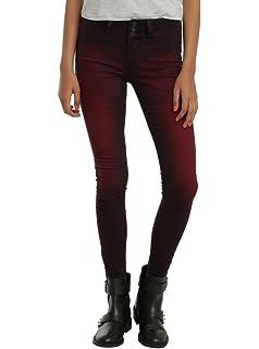 894f2ae982fee Amazon.com  Hot Topic Blackheart Galaxy Print Super Skinny Jeans ...