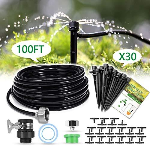 (HIRALIY 100ft/30M Drip Irrigation Kits 1/4