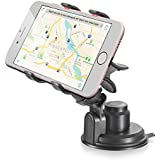 Vena Clip-Grip Universal 360 Degree Car Mount - Strong Suction Cup Car Holder for Apple iPhone, iPod, Samsung, LG, Google Nexus, Blackberry, OnePlus One, HTC, Nokia Smartphone & GPS (Up to 90mm Wide)