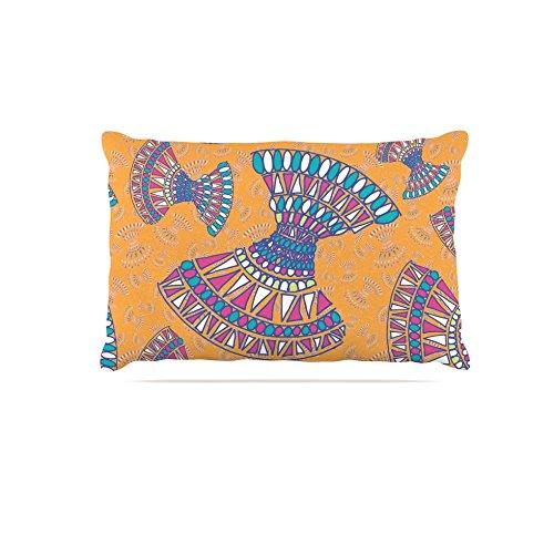 Kess InHouse Miranda Mol Tribal Fun orange  Abstract Fleece Dog Bed, 50 by 60 , Tangerine