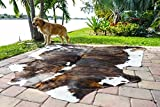 Amazing RODEO Cowhide Skin Rug Tricolor Brown Large Size