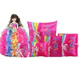 Quinceanera Complete Set Doll Guest Book Kneeling Tiara Pillow Photo Album Bible Q1055 (Basic set + English bible)