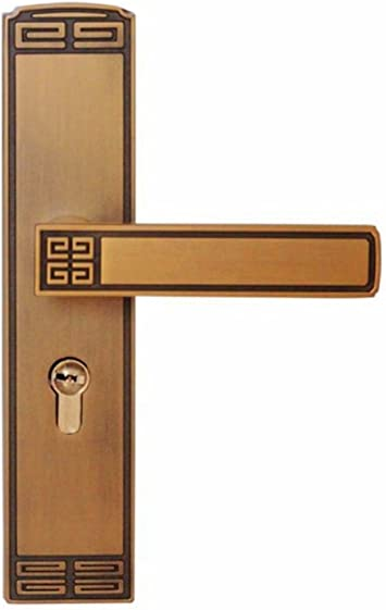 Interior europeo cocina de lujo silenciado de lujo cerradura de puerta de hardware mango mejoras para el hogar hardware de la puerta corredera cerradura mecánica: Amazon.es: Bricolaje y herramientas