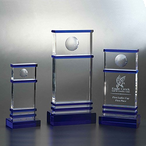 Custom Crystal Etched Award, 9