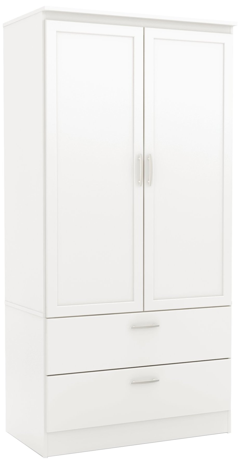 South Shore 2-Door Wardrobe Armoire with Adjustable Shelves and Storage Drawers, Pure White by South Shore