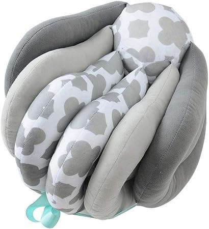 BRZ Multifuncional Almohada De Lactancia Maternidad Almohada De Enfermería Altura Ajustable Gris 66x26cm
