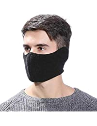 TECHONG Mens Winter Warm Windproof Mask - Thick Dustproof Breathable Mouth Cover