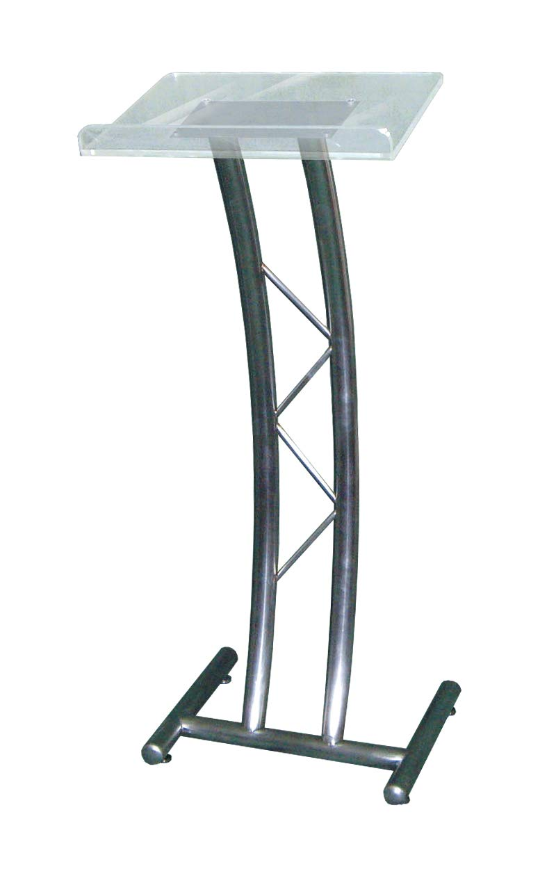 Metal Lectern, Curved, w/Acrylic top by AVTronics