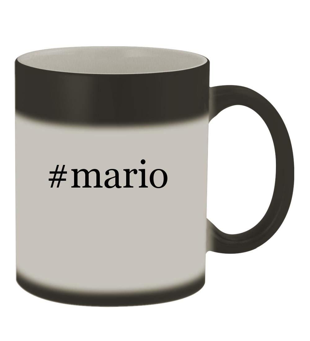 #mario - 11oz Color Changing Hashtag Sturdy Ceramic Coffee Cup Mug, Matte Black