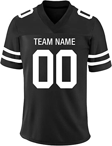 FIITGCUSTOM Custom 2 Sided Football Stitched Jerseys for Men&Women&Youth -Your Own Jersey Customized Team/Name/Number