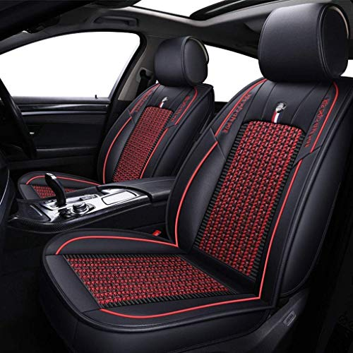 GZTYLQQ Car Seat Covers Set Leather, Universal 5 Seats Seat Cushions for the front seats and rear seat Seats (Color : Red): Amazon.co.uk: Sports & Outdoors