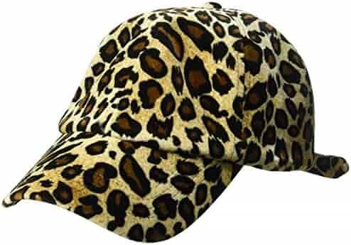 758665185ef Orchid Row Women s Leopard Velvet Tie Baseball Cap Leopard