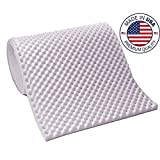 Vaunn Medical Premium Purple Egg Crate Convoluted Foam Mattress Pad Topper Hospital Bed Twin Size