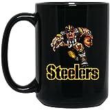 Pittsburgh Steelers Coffee Mug | Player Steelers Mug | 15 oz Black Ceramic Mug Cup Great For Tea & Hot Chocolate | NFL AFC National Football League | Perfect Unique Gift Idea For Any Steelers Fan!