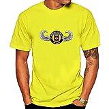 US Army Veteran 82nd Airborne Tee Shirt XL Yellow for Men