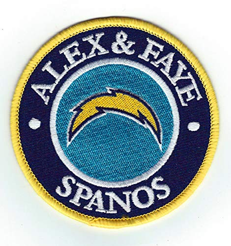 2018 San Diego Los Angeles Chargers Alex & Faye SPANOS Memorial Jersey Patch 3.5