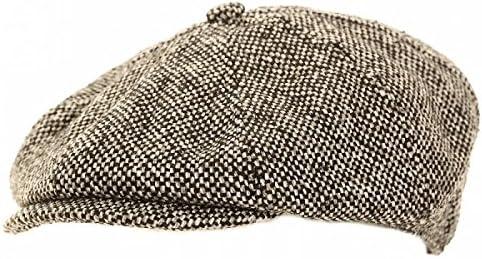 メンズ ウールブレンド 8パネル キャスケット ニュースボーイキャップ 帽子 ハット 秋冬 男性用
