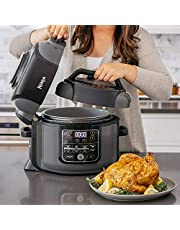 Ninja OP305 Foodi 6.5 Quart Pressure Cooker That Crisps, Steamer & Air Fryer with TenderCrisp Technology Multi-Cooker and Fryer All-in-One (Renewed)