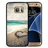 img - for Galaxy S7 Edge Case, Customized Black Soft Rubber TPU Samsung Galaxy S7 Edge Case Beautiful beach with love book / textbook / text book