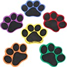 """Really Good Stuff Carpet Mark-Its – Set of 24 Paws – 5"""" Sitting Spot Markers for The Classroom – 6 Colors"""