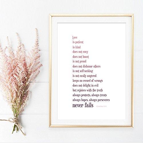 1 Corinthians 13:4-8 Art Print