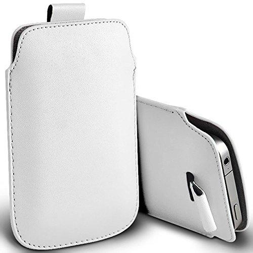 Digi-Pig, per Apple iPhone 4, in pelle PU, con laccetto estraibile, colore: bianco