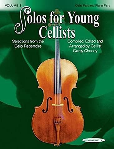 Solos for Young Cellists Cello Part and Piano Acc. (Volume 3) (Learning Cello Dvd)