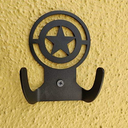 Standard Hook Captain (HeavenlyKraft Captain America Logo Steel Wall Hook Dual Holder for Living Room Coat Hat Robe Hanger Bathroom Towel Kitchen Strong Heavy Duty Garage Storage Organizer Utensil Hook Single)
