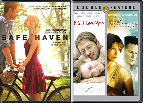 Nicholas Sparks Safe Haven Movie & P.S. I Love You / Lake House Triple Feature Love - Efron Love Movie Zac
