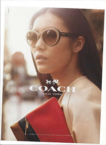 MAGAZINE PAPER ADVERTISEMENT With Liu Wen For 2014 Coach - Coach Sale Sunglasses