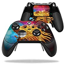 MightySkins Protective Vinyl Skin Decal for Microsoft Xbox One Elite Wireless Controller case wrap cover sticker skins The Golden Dragon