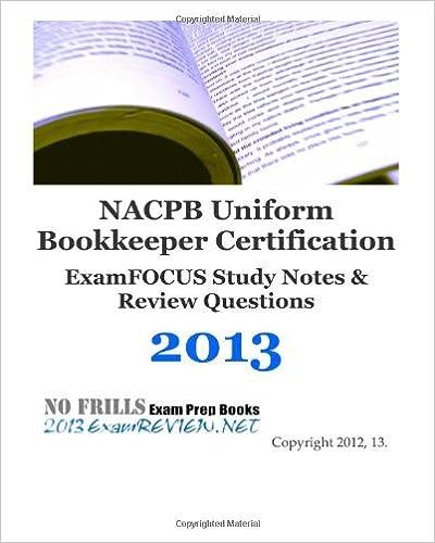 nacpb uniform bookkeeper certification examfocus study notes ...