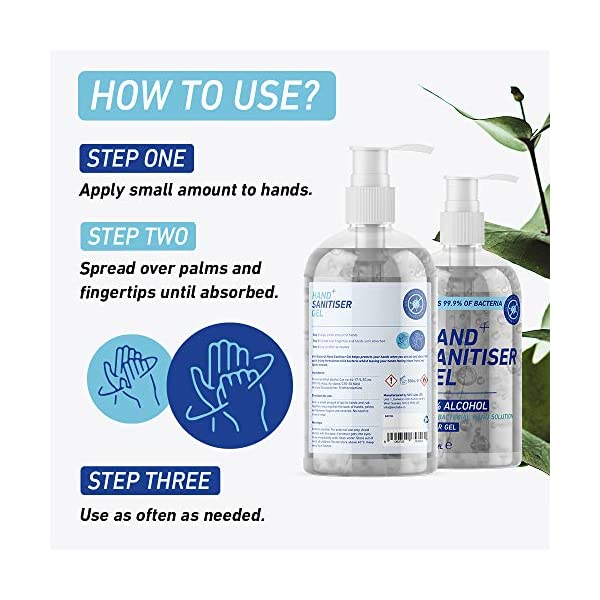Sanotize Hand Sanitiser Gel 70 Alcohol 500ml Pump Bottle Certified Medical Grade Antibacterial Kills 999 Bacteria