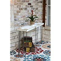 Industrial 60 inch White Farmhouse Sofa Table