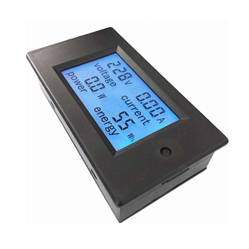 Feamos AC 80-260V LCD Digital 20A Volt Watt Power Meter Voltmeter Ammeter