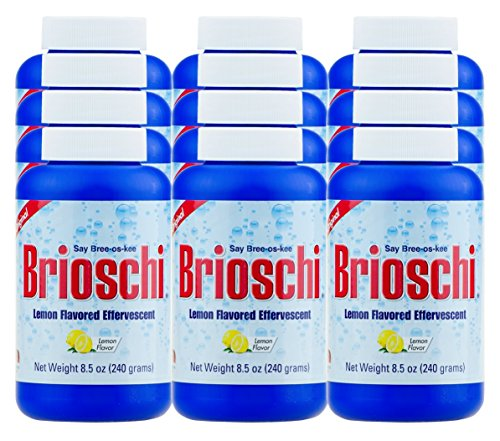 Brioschi Effervescent 8.5oz (12 Bottles) The Original Lemon Flavored Italian Effervescent 12 bottles by Brioschi