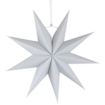 Amazon De Fablcrew Grau Paper Lampshade Kreativer Stern Origami