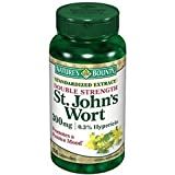 Nature's Bounty St. John's Wort, Double Strength, 300mg, 100 Capsules (Pack of 2)