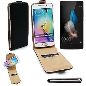 Caso Smartphone para Huawei P8 Lite cubierta del estilo del tirón 360°, negro, cubierta del tirón - K-S-Trade